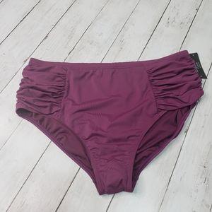 New! Ambrielle Curve Swimwear Burgundy Bikini